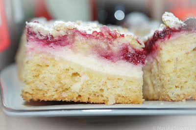 Moja Odrobina Zapomnienia: Ciasto ucierane z serem i malinami