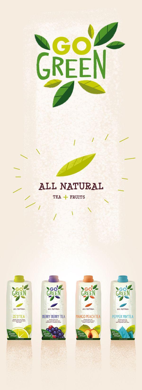 GO Green branding & packaging design on Behance