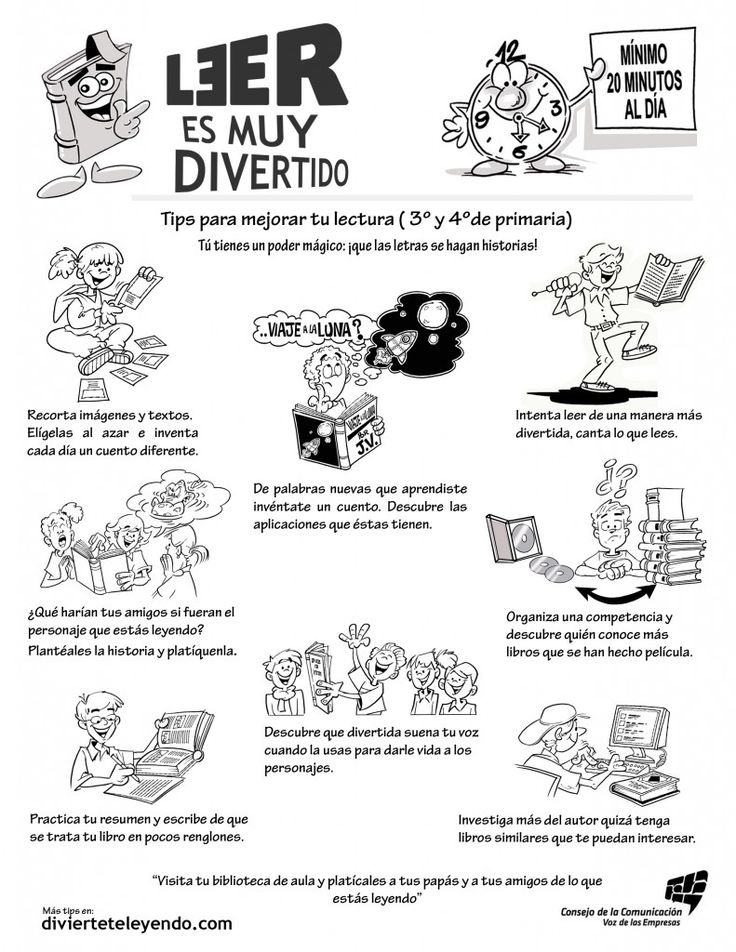 This site has lots of fun tips with appealing graphics in Spanish to encourage parents and child to READ!  (Perfect to insert into HW folders in a Dual Language or Bilingual classroom)
