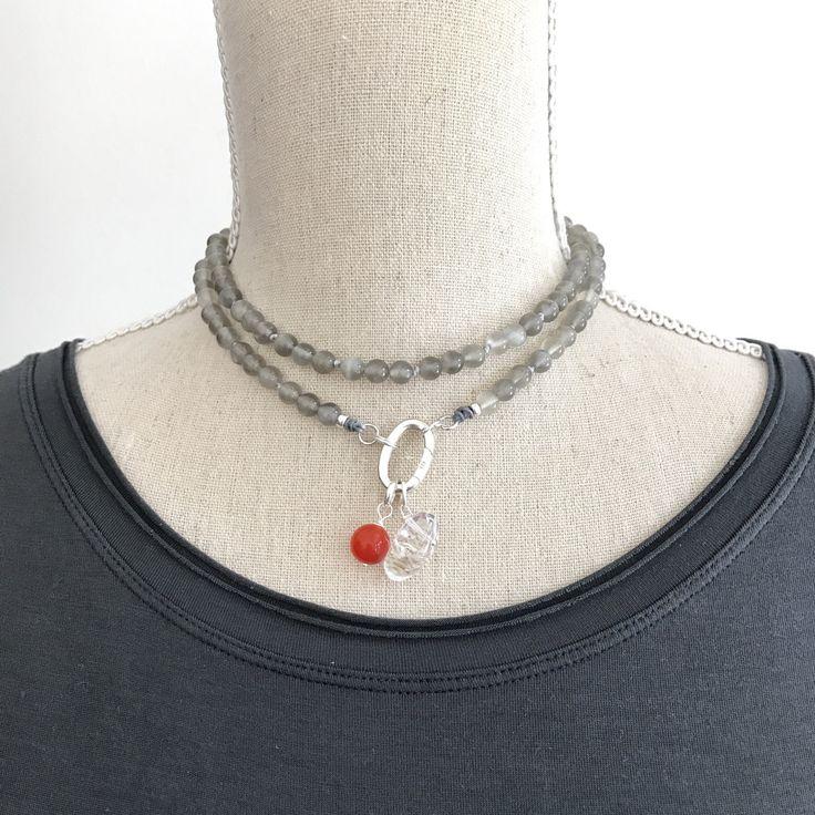 108 Moonstone Mala Necklace, Boho Customizable Beaded Necklace, Meditation Beads, Boho Short Necklace, Yoga Beads, Knotted Mala Necklace by SharonweinDesigns on Etsy