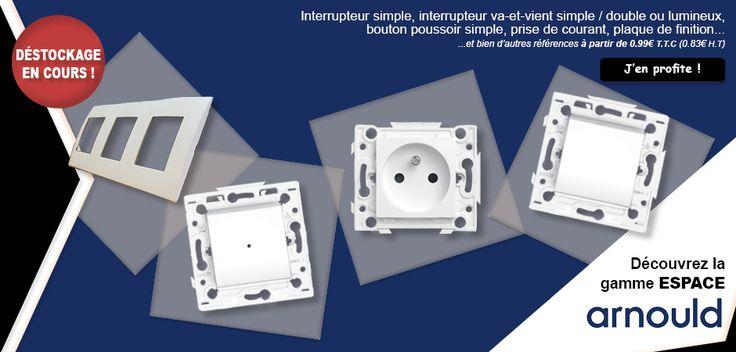 #LFDB #lesfournituresdubatiment #électricité #gamme #arnould #interrupteur #boutonpoussoir #prise #courant #plaque #finition #déstockage #bricolage #bâtiment #habitat