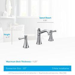 belfield widespread bathroom faucet with drain assembly bath rh pinterest com