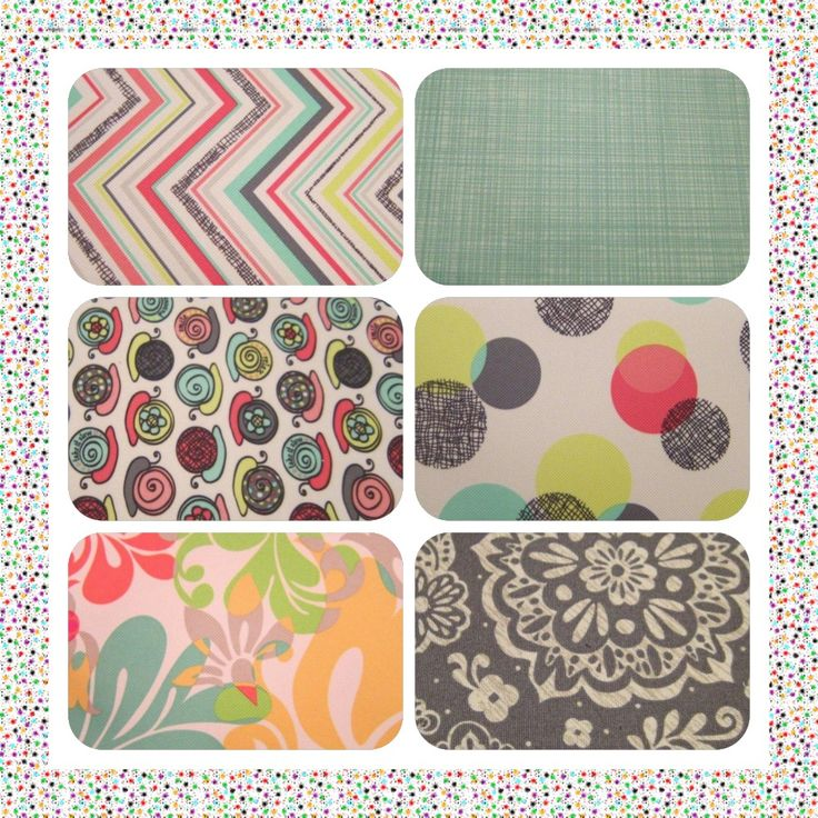New patterns & designs for Spring 2013 - Thirty-One Gifts, Party Punch, Turquoise Cross Pop, Take it Slow, Punch Bowl, Island Damask, Woodblock Floral.
