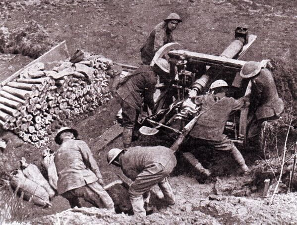 Image result for ww1 british 18 pounder gun