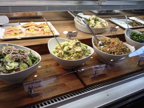 Foragers also has a reasonably sized display case with various salads and vegetables.