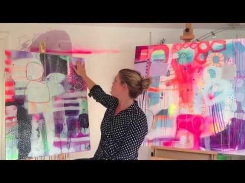 Lær at male - brug kontraster i dit maleri - YouTube