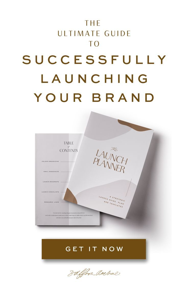 The Launch Kit Planner Launch Guide Business Branding Design Launch Planner Business Plan Template