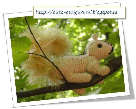 eekhoorn haken (gratis Nederlands haakpatroon)