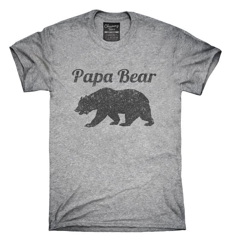 Papa Bear Funny Fathers Day Gift T-Shirts, Hoodies, Tank Tops
