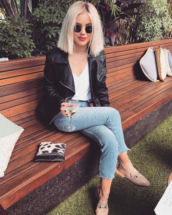 20 Style-Tipps zum Tragen einer Lederjacke im Herbst