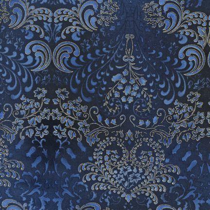 Robert Kaufman Fabrics: APTM-5574-69 MIDNIGH by Peggy Toole from Fusions® 5574