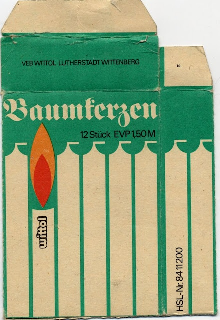 GDR candle packaging.
