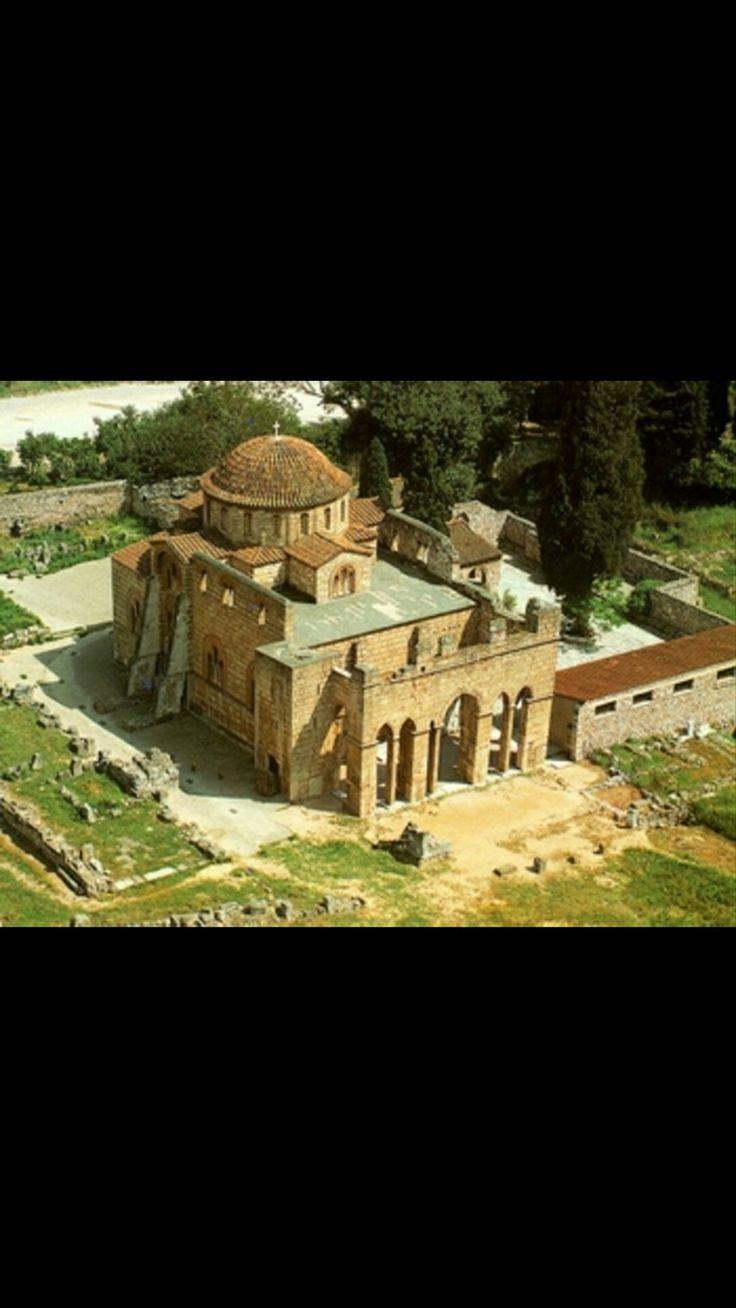 Monastero di Daphni.  Sec XI . Mosaici di epoca Comnena (1100-1150)