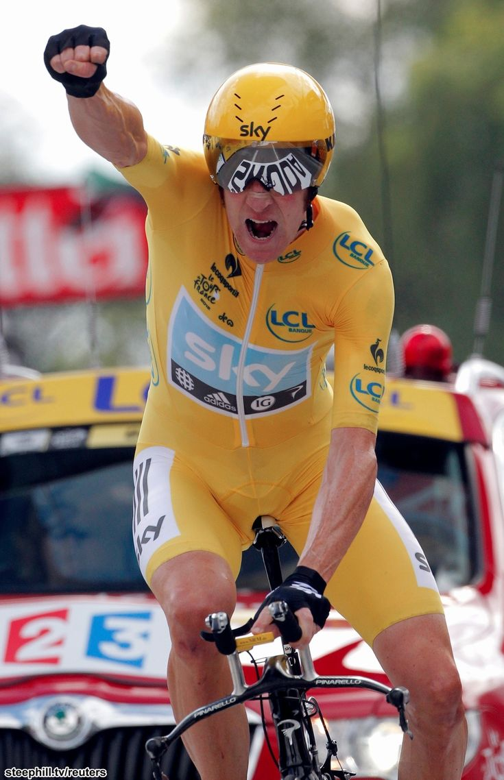 Bradley Wiggins, 2012 Tour de France winnner and the first from Great Britain.