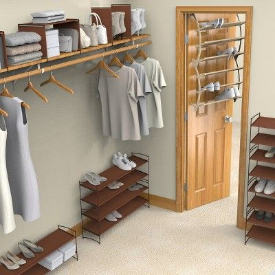 Lynk Vela Shelf Dividers (Set of 4) - Closet Shelf Organizer - Bronze, Bronze Brown