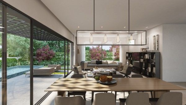 The main living area of this house utilizes an open floor plan with a gourmet kitchen opening out into a full dining room and living room. L...