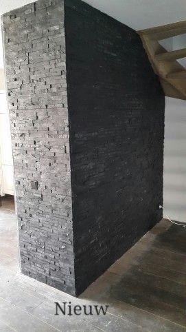 Maak je eigen muur van leisteen steenstrips. Prachtige kleur