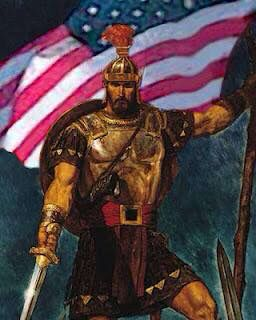 Captain Moroni And The American Flag