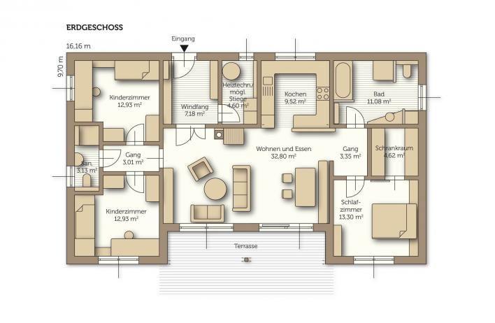 Bildergebnis für grundriss bungalow 160 qm Bauprojekt - moderne wandbilder für wohnzimmer