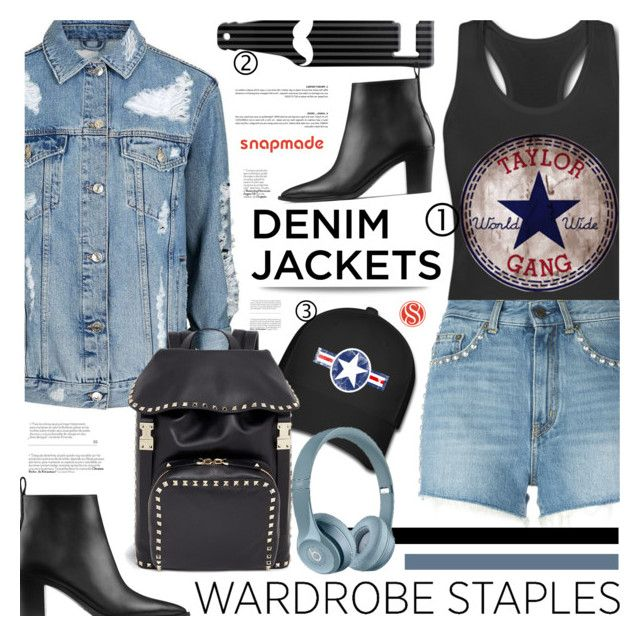 """Wardrobe Staple: Denim Jackets - Snapmade.com"" by defivirda ❤ liked on Polyvore featuring Topshop, Yves Saint Laurent, Acne Studios, Valentino, vintage, denimjackets, WardrobeStaples and snapmade"