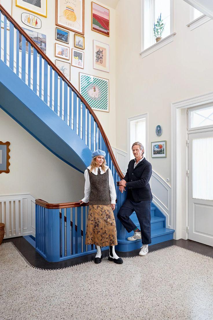 Inside The Quirky Copenhagen Home Of Ganni Founders Ditte & Nicolaj Reffstrup   British Vogue Daybed Covers, Interior Architecture, Interior Design, Color Interior, Color Tile, Colour, Big Houses, Danish Design, Decoration