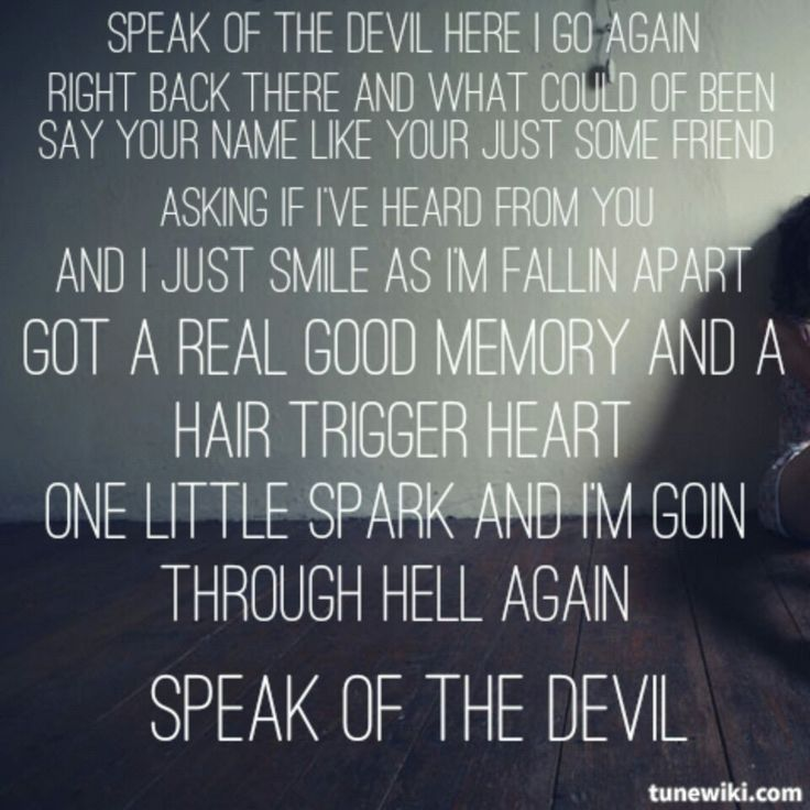 The devil lyrics