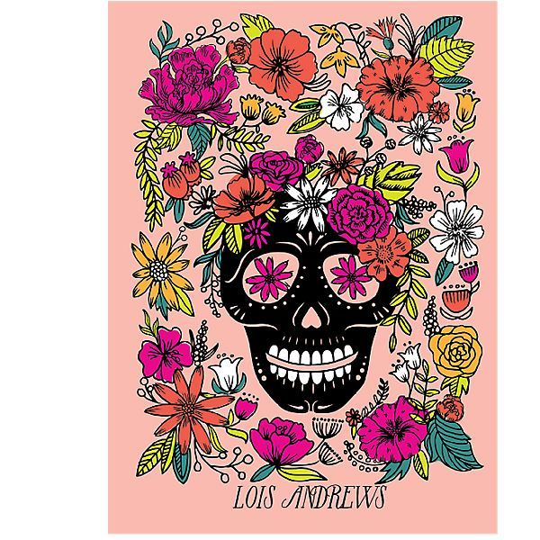 Personalize 17-Month Skull Floral Custom Planner 2017-2018 | Paper Source