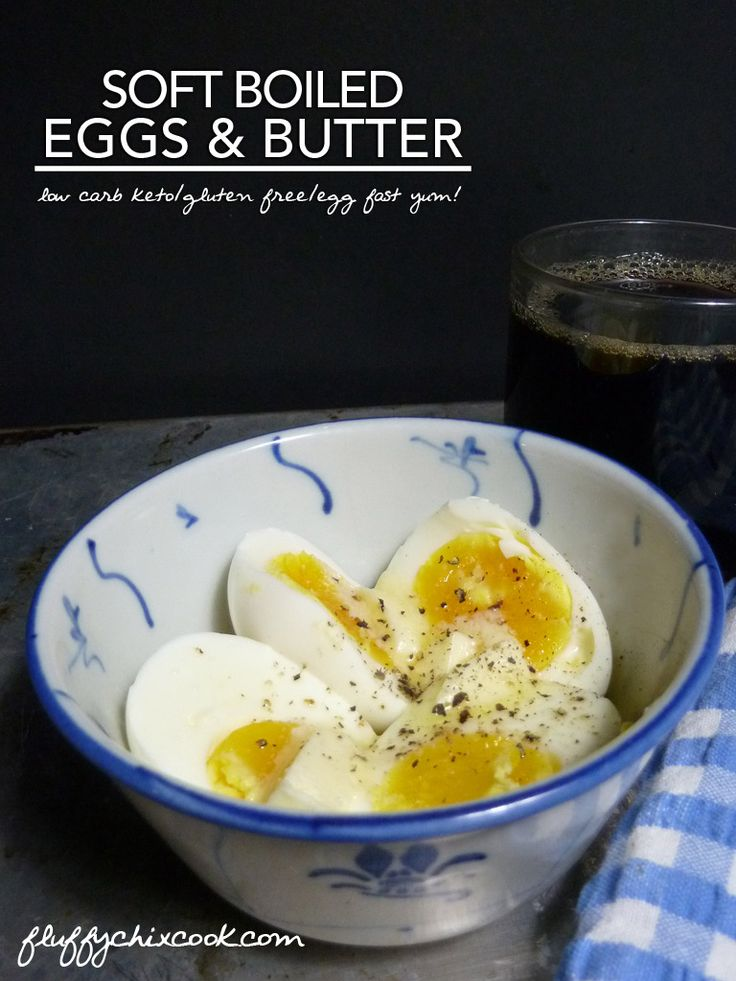 Perfect Soft Boiled Eggs with Grass Fed Butter & Truffle Salt - it's a low carb keto meal perfect any time of the day or night!