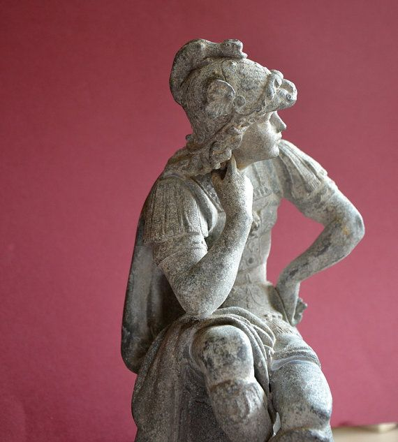 Rare antique  français statue de  Mercure personnage par FRENCHWAVE
