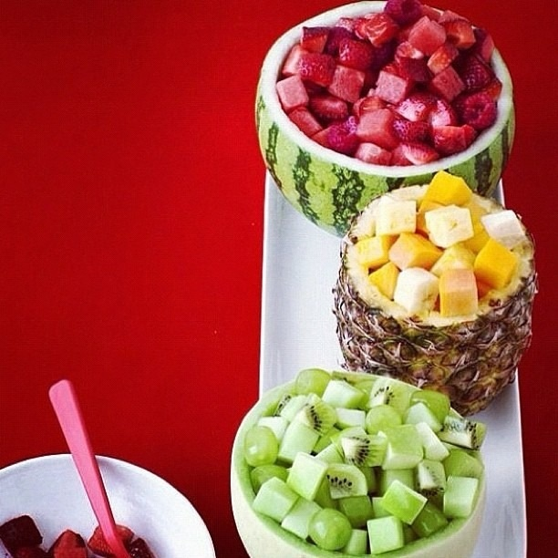 interesting ideas fruit bowl. Step up your fruit salad this year by serving cubes of in  color coordinated bowls 57 best Healthy Fruit Cakes images on Pinterest Birthdays Food