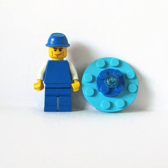 Geeky Brooch Round in many different patterns all made from LEGO bricks
