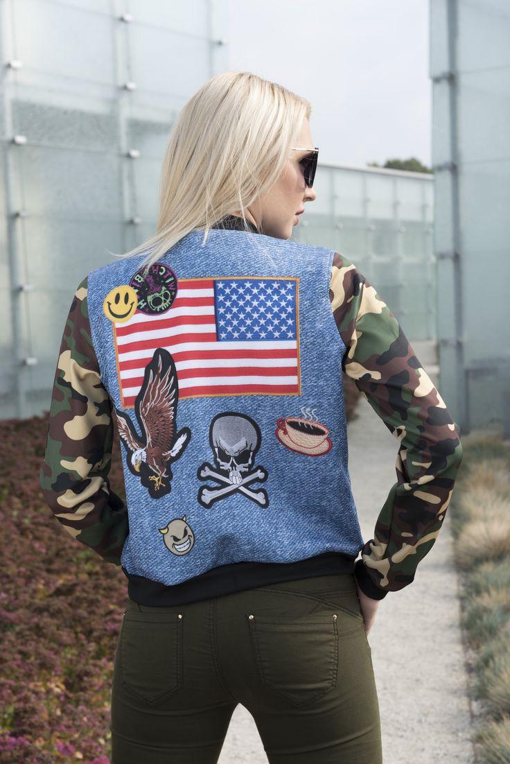 #bomberjacket #emojiprint #americanflag #armygreen #coffee  #emojipants #usa