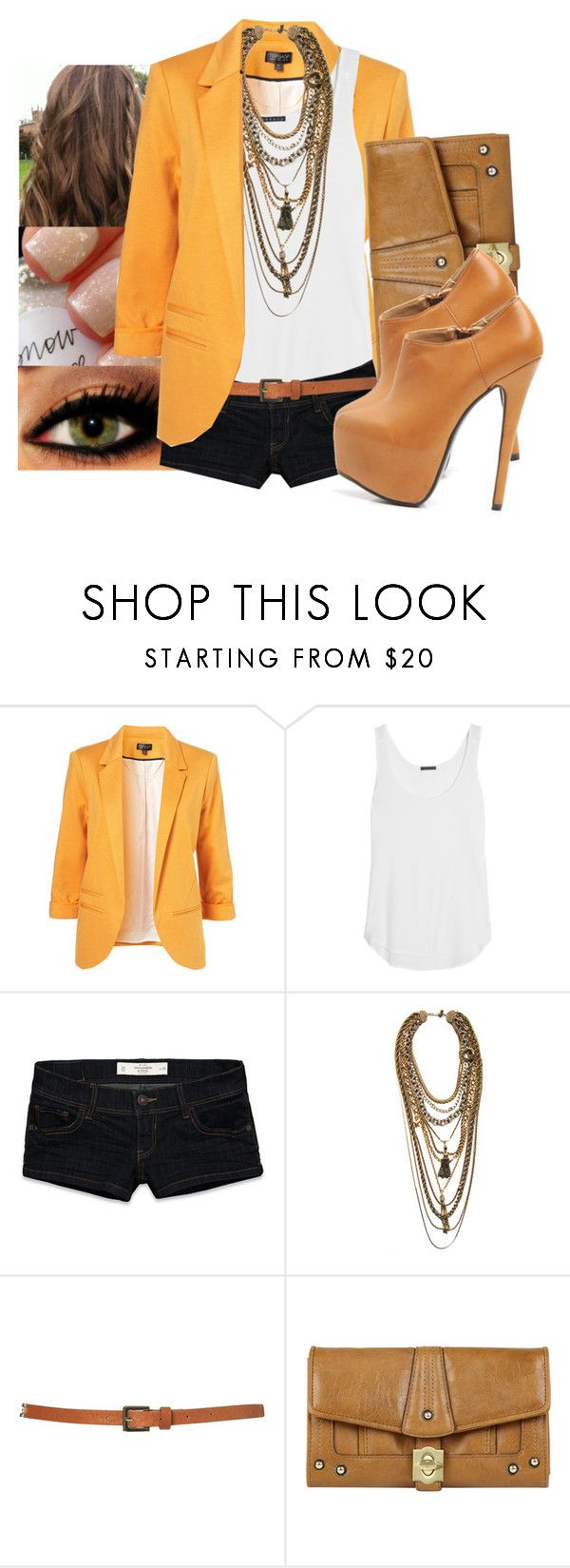 """""""..."""" by jamilah-rochon ❤ liked on Polyvore featuring Theory, Abercrombie & Fitch, Dirty Librarian Chains, Topshop, Mischa Barton Handbags and AX Paris"""