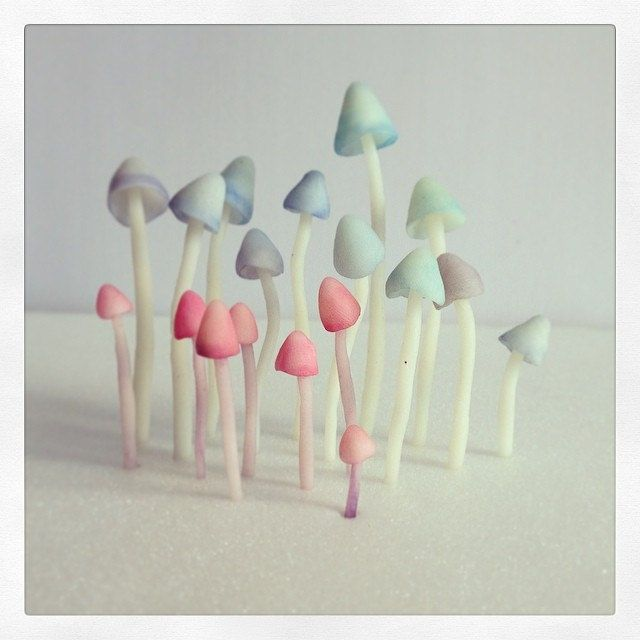 hallucinogènes ? | Polymer clay mushrooms by Céline Roumagnac