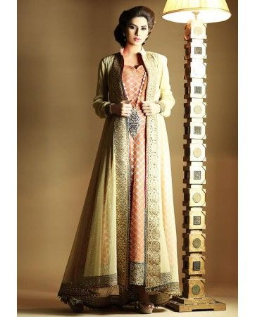£95. Available in small, medium and large sizes. Pakistan Clothing 3 Piece Zahra Ahmad Pakistani Formal Party Wear Dress Winter Collection 2014 - Pakistani Clothing Latest 2013 Fashion