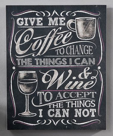 Take a look at this Chalk Talk Wall Plaque, Give Me Coffee on zulily today!