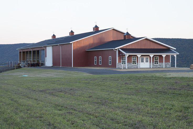 Morton Buildings livestock/storage facility in Bloomsburg, Pennsylvania.