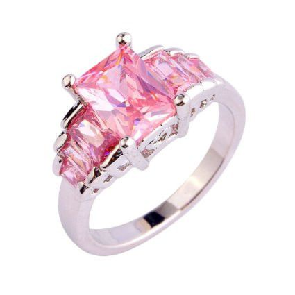 Pink Topaz Ring - Luna's Warehouse - 1