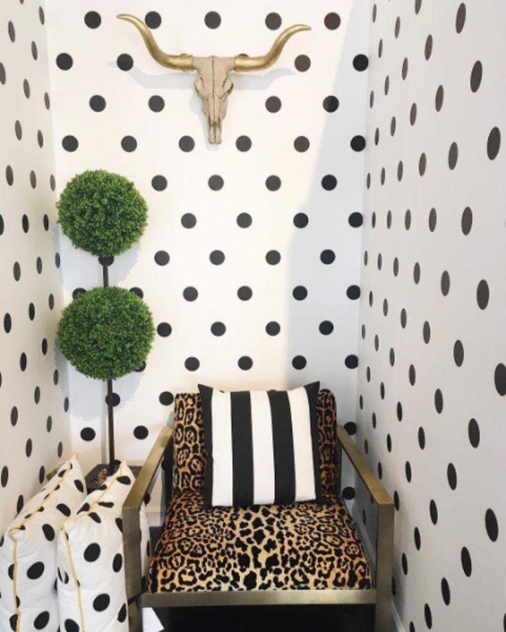 Katie Kime's new Polka Dot wallpaper