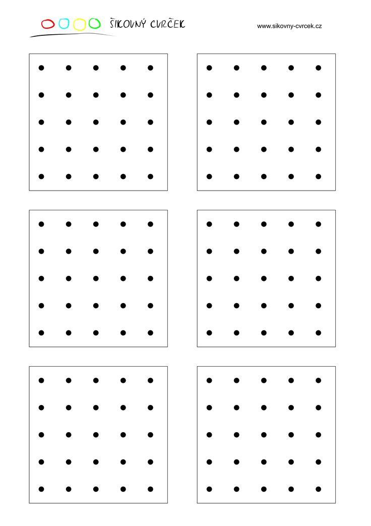 Přenášení obrázků na bodovou síť (aktivity pro děti) - Šikovný cvrček