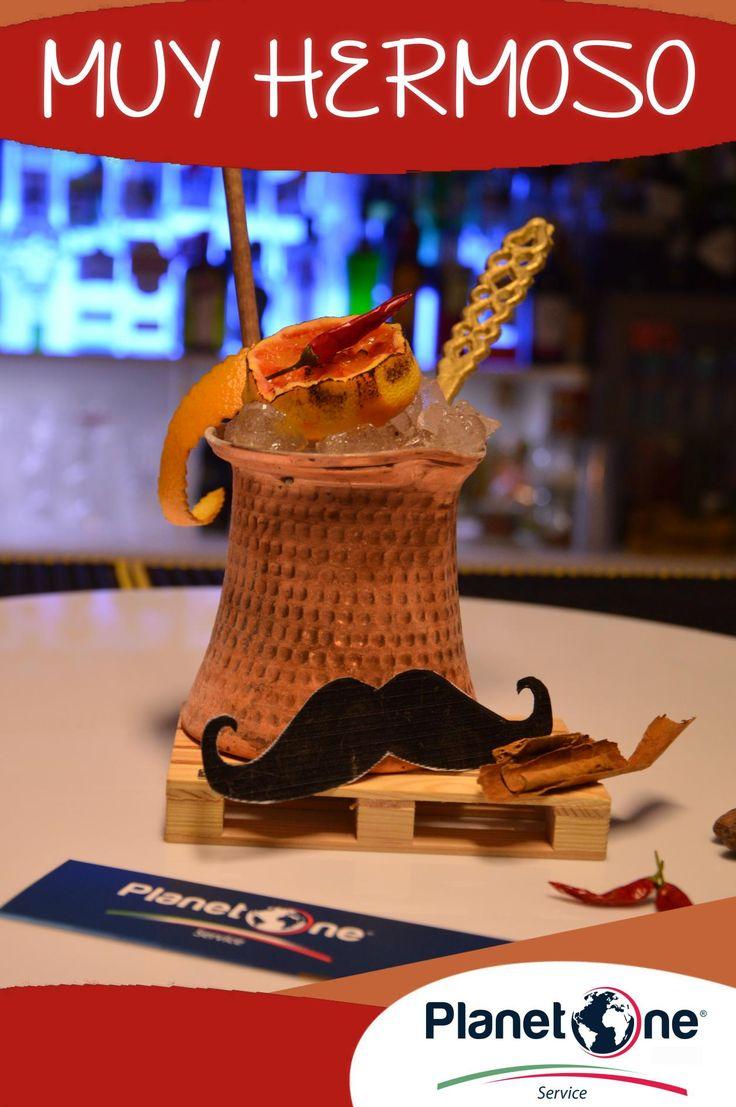 """Cocktail Alcolico """"Muy Hermoso"""" Ingedienti: 1 ½ oz Tequila Reposado ¾ oz Liquore al cioccolato modicano CioMod ¾ oz Infuso di Tè bianco speziato con cannella, vaniglia e chiodi di garofano ½ oz Succo di lime 1 oz Succo di arancia 6 gocce Sciroppo al Peperoncino Jolokia homemade per la ricetta completa visita: http://www.planetone.it/le-ricette-per-luilei-muy-hermoso-rose-mai-tai/"""