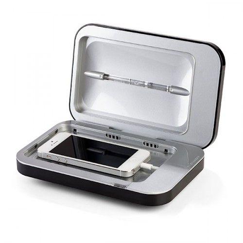 Cooles Gadget: Die iPhone Sonnenbank - läd das iPhone und beseitigt via UV-Strahlen Bakterien! #iPhone #Gadgets