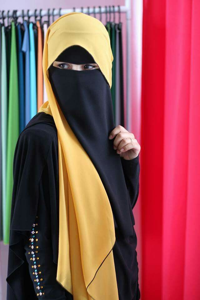 Bright yellow Niqab