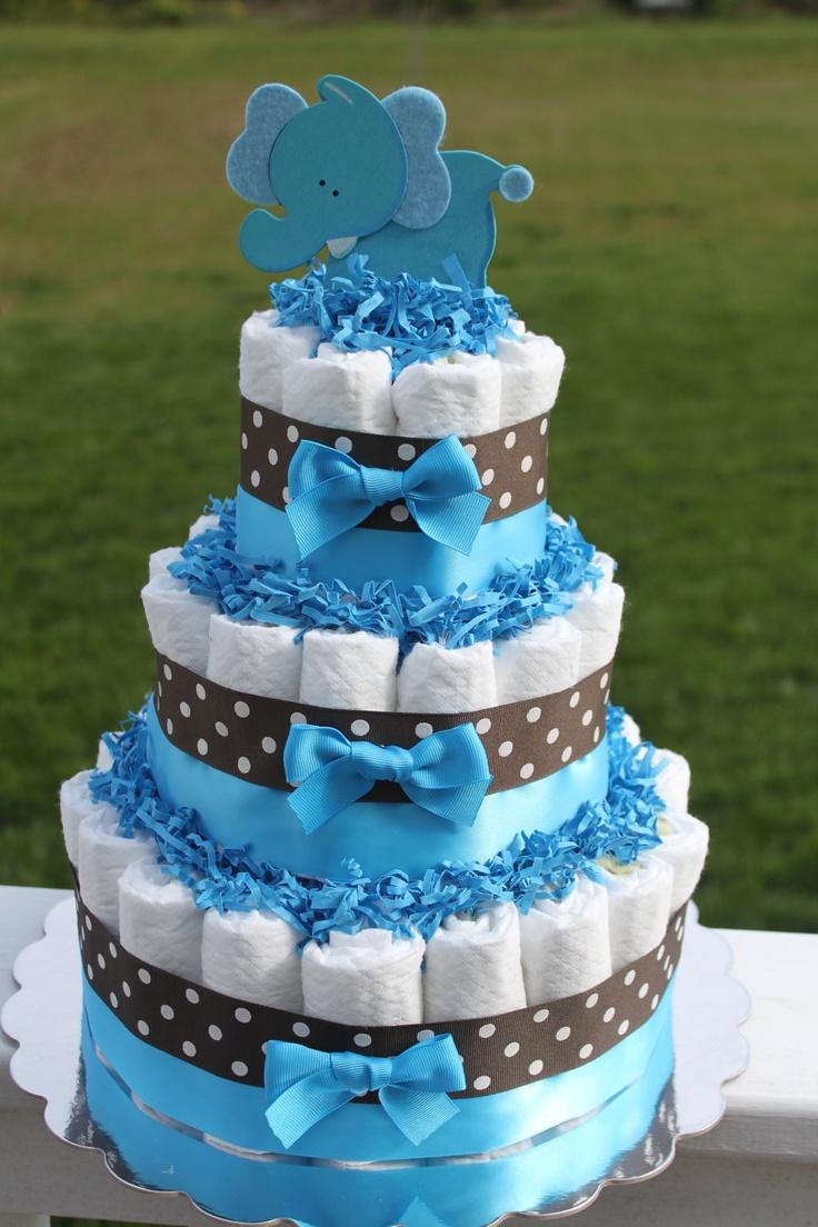 Baby Boy Diaper Cake Jungle Theme Diaper Cake