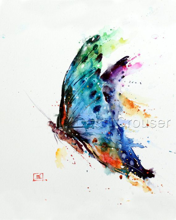 BUTTERFLY Watercolor Print by Dean Crouser by DeanCrouserArt