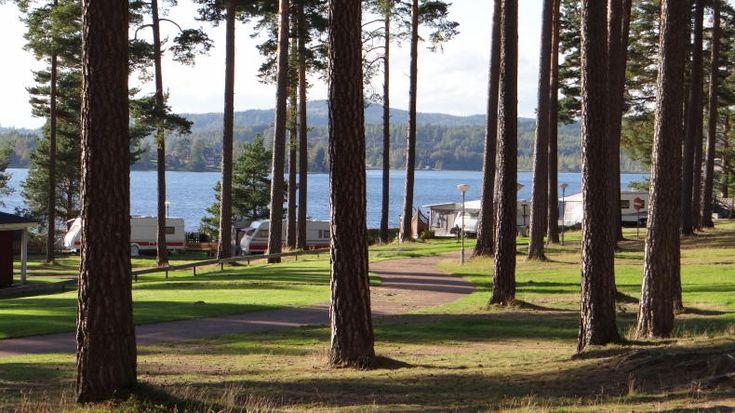 Campingplatz Leksand Strand am Silja-See in  Dalarna, Schweden