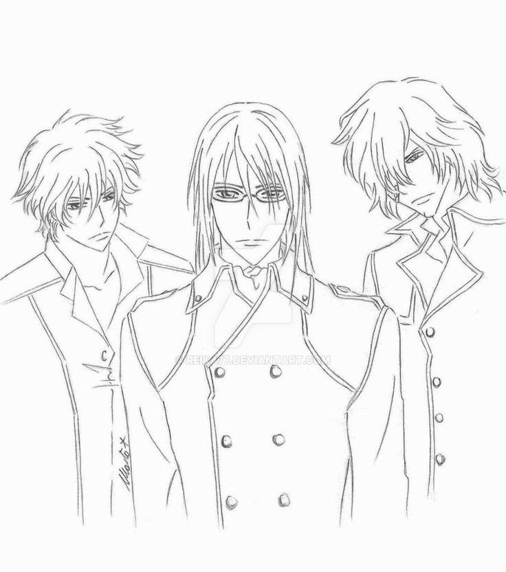 Hunters by Reika77.deviantart.com on @DeviantArt #vampireknight #hunter #cross #kaien #toga #yagari #kaito #takamiya #fanart #manga
