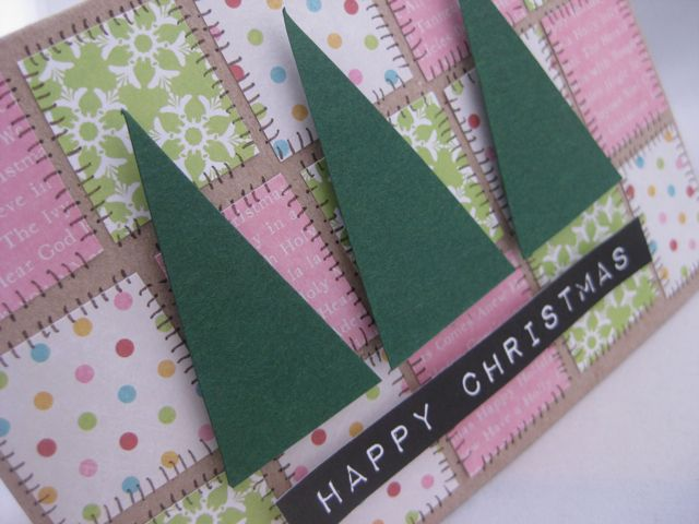 Patchwork Christmas Card Tutorial Patchwork Cards And