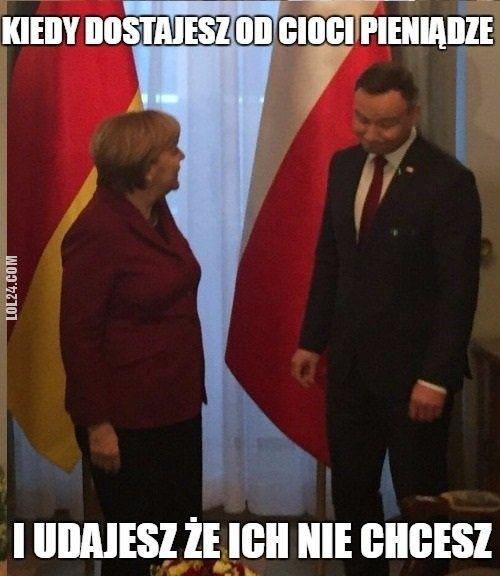 Kiedy dostajesz pieniądze od Cioci #pieniądze #Ciocia #Merkel #Andrzej