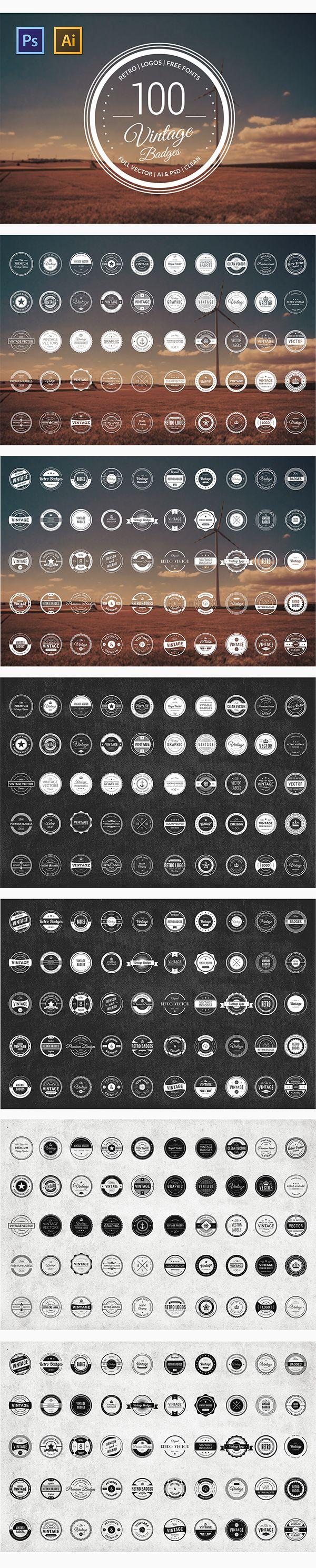 100 Retro Badge Templates on Behance